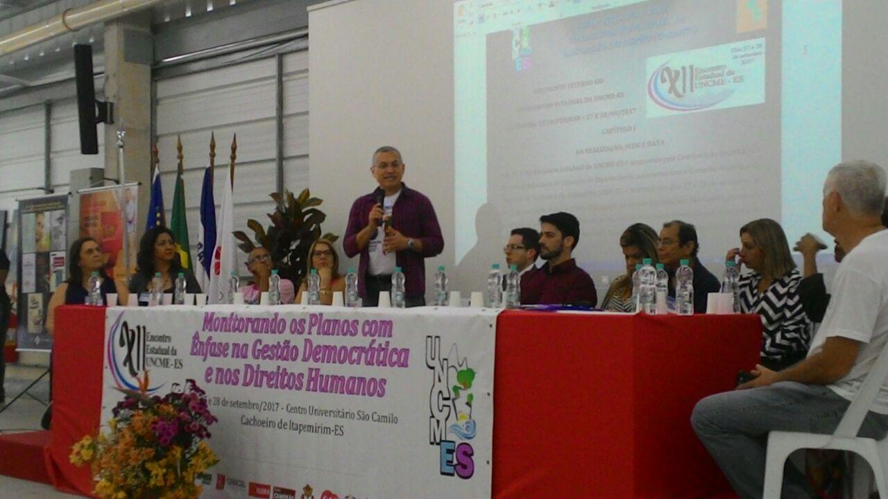 Debate sobre a Conape no XII Encontro Estadual da UNCME -ES