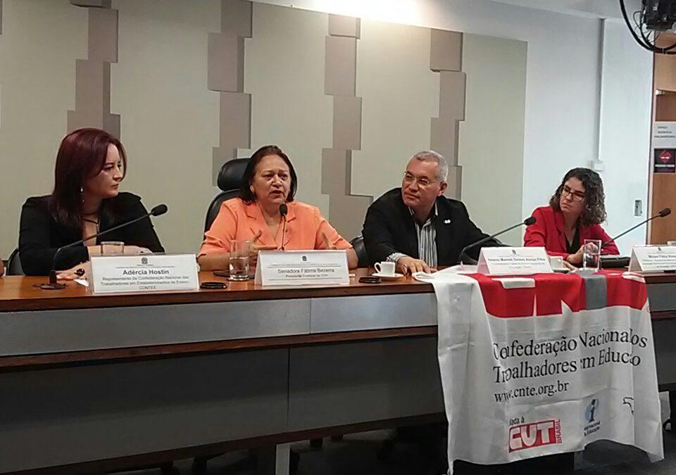Conferência Nacional Popular da Educação é lançada no Senado