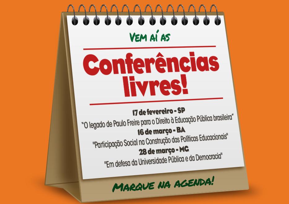 Conferências Livres – Marque na agenda!