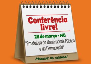 [MG] Conferência Livre BH @ Auditório do CAD 1 da UFMG
