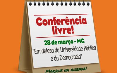 [Nesta quarta!] Conferência Livre da Educação Superior, em Belo Horizonte, na UFMG