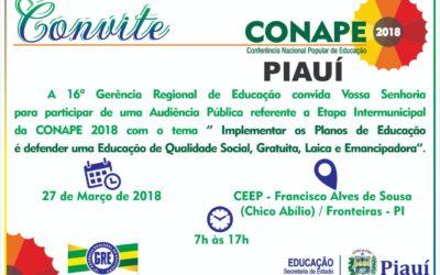 [PI] Audiência Pública referente a Etapa Intermunicipal da CONAPE 2018