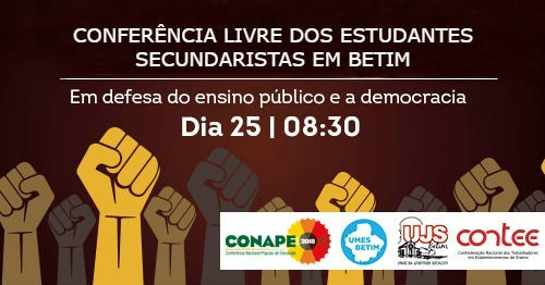 [MG] Conferência Livre dos Estudantes Secundaristas em Betim