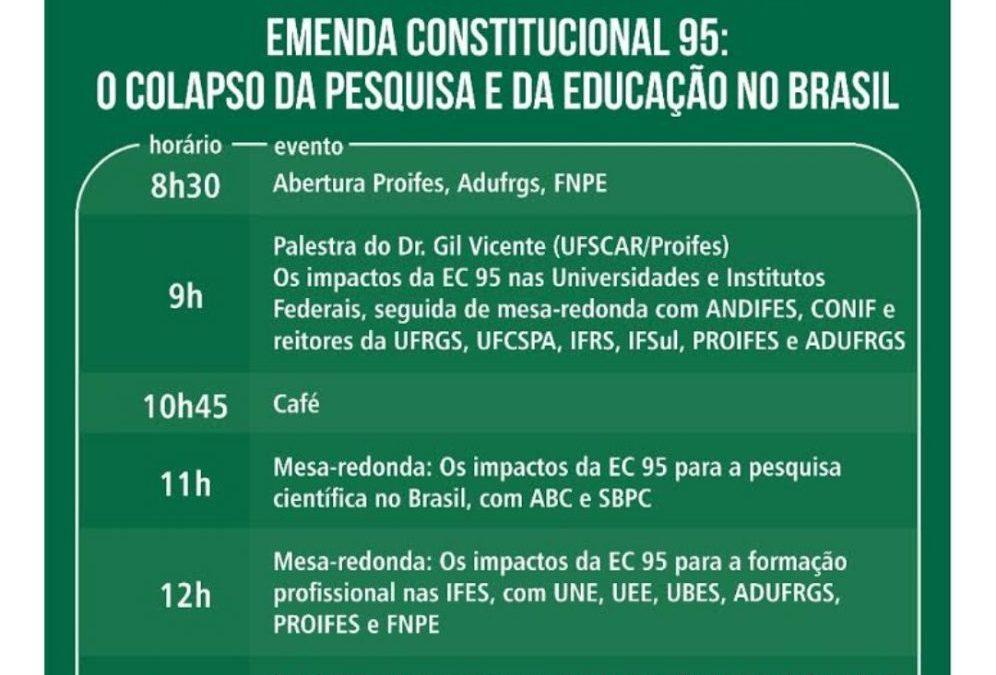 [RS] Emenda Constitucional 95: o colapso da pesquisa e da educação no Brasil