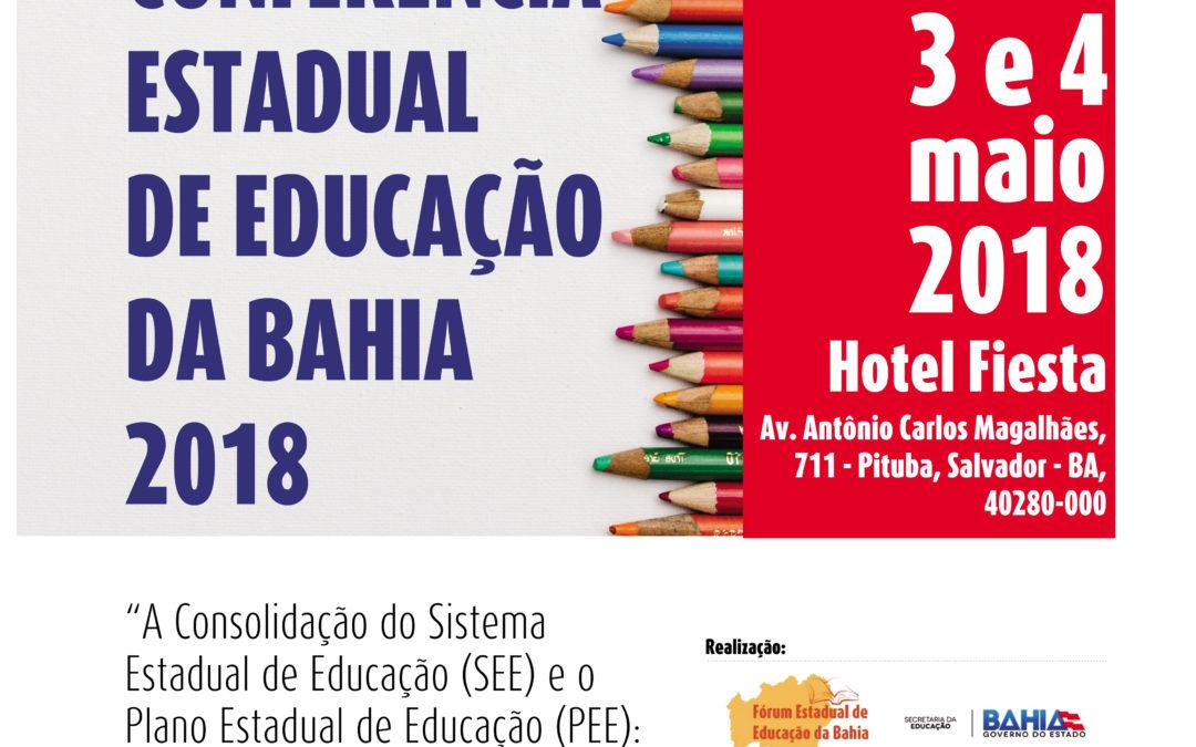 [BA] 3ª Conferência Estadual de Educação da Bahia 2018