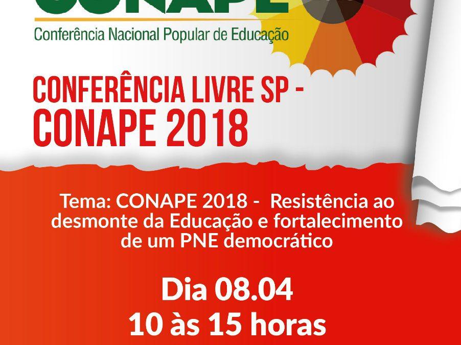 [SP] Conferência Livre – Resistência ao desmonte da Educação e fortalecimento de um PNE democrático