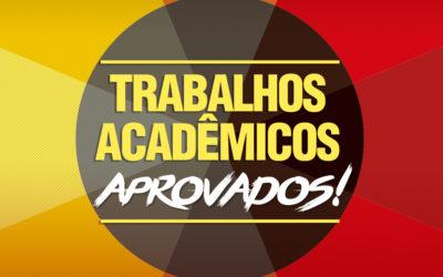 Relação de Trabalhos Acadêmicos inscritos e aprovados