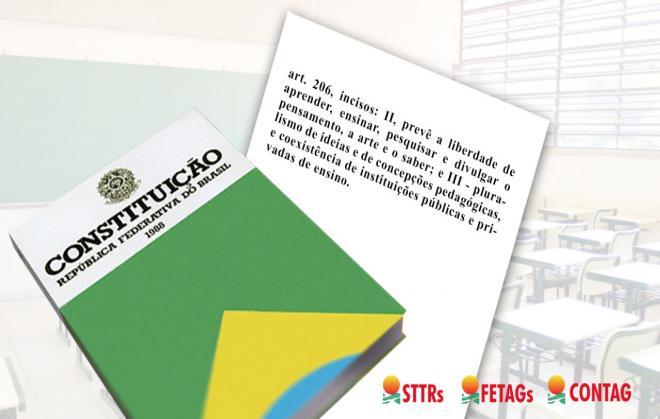 """Para a CONTAG, projeto """"Escola sem Partido"""" é inconstitucional"""